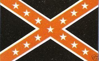 Orange Black Confederate Rebel Flag 3x5 Banner