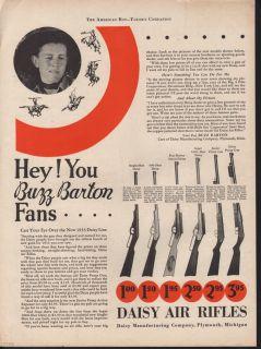 1933 Daisy Air Rifle Buzz Barton Pump Repeater Plymouth Gun Outdoor