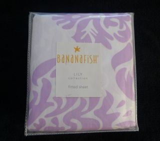 Bananafish LILY Lavender Purple Floral Fitted Crib Sheet NIP