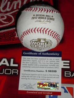 BENOIT SIGNED 2012 WORLD SERIES BASEBALL, DETROIT TIGERS, PSA/DNA, MLB