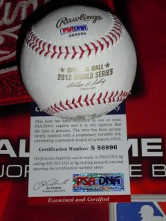 ARIAS SIGNED 2012 WORLD SERIES BASEBALL, SAN FRANCISCO GIANTS, PSA/DNA
