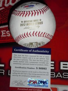 POSEY SIGNED 2012 WORLD SERIES BASEBALL, SAN FRANCISCO GIANTS, PSA/DNA