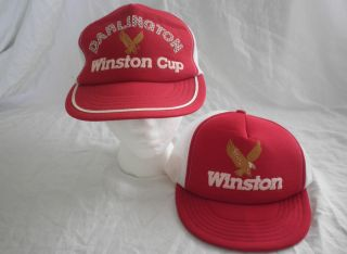 Lot of 2 Vintage Winston Cup Darlington Baseball Cap Hat snapback