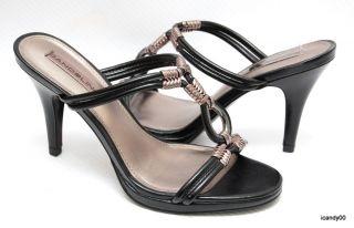 New Bandolino ON MY OWN Strappy Sandal Heel Slip On Pump Shoe *Black