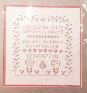 Counted Bead Embroidery Cross Stitch Sampler Kit 1984 MPR Associates