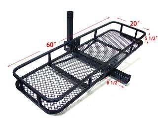 60x20 Folding Cargo Carrier Basket Hitch Tow Receiver