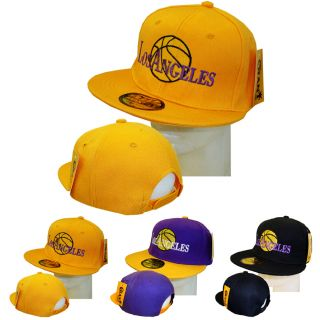 New Snapback Los Angeles Lakers Fan Basketball Cap Hat
