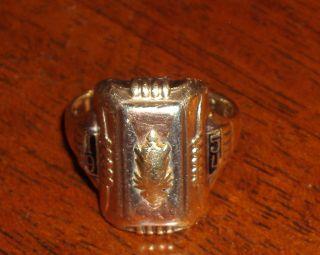 1954 Mens 10K Tri Color Gold Bastian Class Ring Sz 8 Wear Scrap