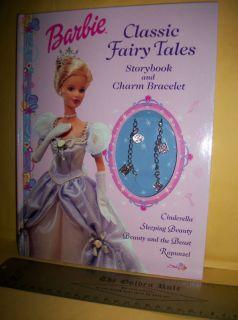 New Barbie Classic Fairy Tales Book Set Children Charm Bracelet