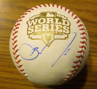 Barry Zito Signed 2012 World Series Baseball COA San Francisco Giants