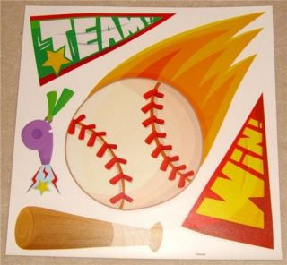 Baby Children Boys Bedroom Baseball Sport Wall Stickers
