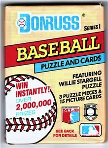 1991 Donruss Series 1 Baseball 15 Player Cards and 3 Puzzle Pieces Fr