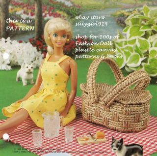 Picnic Basket Plastic Canvas Pattern for Fashion Doll