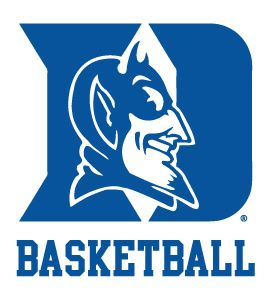 Duke University Blue Devils Basketball Clear Vinyl Decal Car Truck