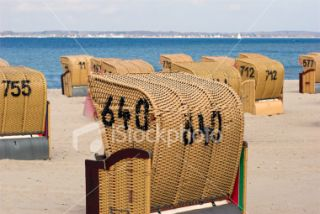 Number 640 Beach Chair Royalty Free Stock Photo