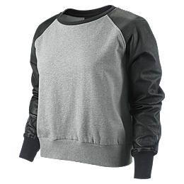 Felpa Nike Leather Sleeve   Donna 459612_063_A