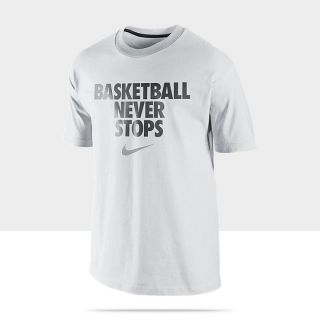 Nike basketball never stops mens t shirt 520400 103 a for Basketball never stops shirt nike