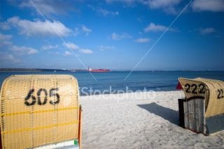 Number 605 Beach Chair Royalty Free Stock Photo