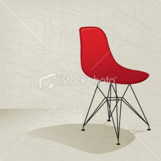 Red Retro 50s Chair Royalty Free Stock Vector Art Illustration