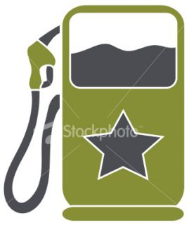 Gas/Fuel pump  Vector Royalty Free Stock Vector Art Illustration