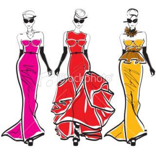 Sect de la mode, Croquis, Mannequin, Femmes, Habillement  Stock