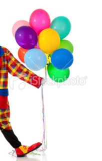 stock photo 10823630 clown holding party ballons