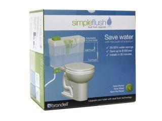 Brondell Simple Eco Friendly Dual Flush Toilet Retrofit Kit