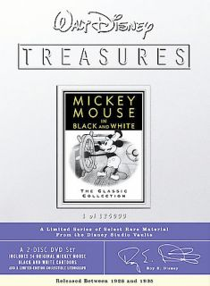 Walt Disney Treasures Mickey Mouse in Black and White DVD, 2002, 2