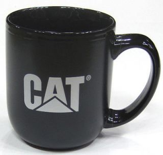 Caterpillar Black Cat Logo Ceramic Mug NEW 17oz Coffee Cup Matte