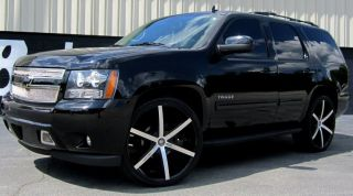 26 INCH WHEELS TIRES RIMS LEXANI R SIX 6X139.7 BLACK SUBURBAN 2001