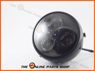 Universal Motorbike 7 Matt Black LED Headlight Suits Harley Davidson
