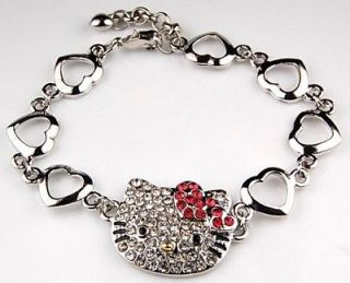 Newly listed HELLO KITTY MULTI HEART CRYSTAL CHARM BRACELET