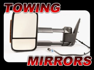 03 06 Chevy GMC Truck Towing Power Heated Signal Side View Mirror LH