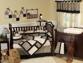 ANIMAL SAFARI JUNGLE BABY BEDDING CRIB SET FOR A BOY GIRL BY SWEET