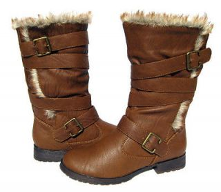 Womens Designer Boots Tan Brown Motorcycle shoes winter snow Ladies