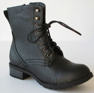 Alice 1 women Low Heel Knight & Military ankle combat Boots with