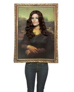 adult mona lisa picture fancy dress humour costume std time