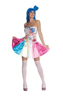 katy perry candy girl adult costume size m medium new