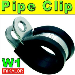 5x MIKALOR W4 Stainless Steel EPDM Rubber Lined P Clip Fuel Pipe Hose