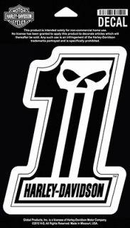 harley davidson number 1 skull decal  13