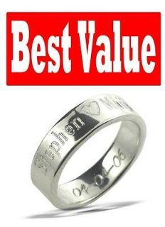 Personalized Sterling Silver Name Promise Ring Century FREE INSIDERING