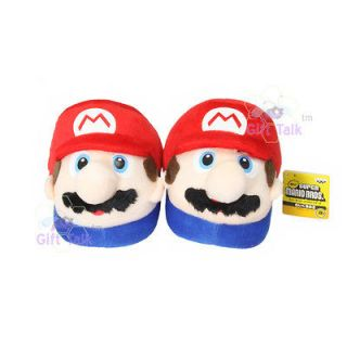 Newly listed NEW Super Mario Bros Anime Kids Red Plush Doll Slipper
