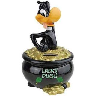 Lucky Daffy Duck Coin Piggy Bank Money Warney Bros Looney Tunes