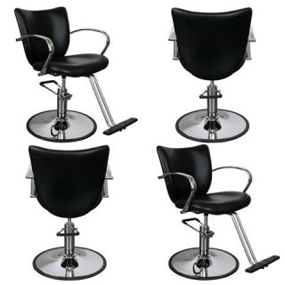 Black Beauty Salon Equipment Hydraulic Styling Chair Package 4 SC 81B