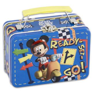 newly listed disney mickey mouse small emboss tin tote box