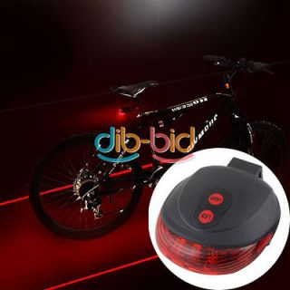 Bicycle Bike Cycling Led Laser Tail Light Safety Rear Warning Lamp New