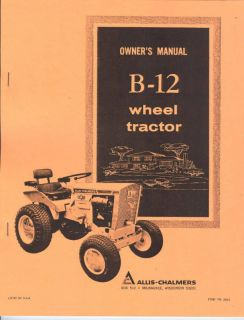 allis chalmers b 12 garden tractor owners manual ac time