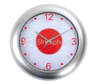stock photo 13485955 clock clipping path