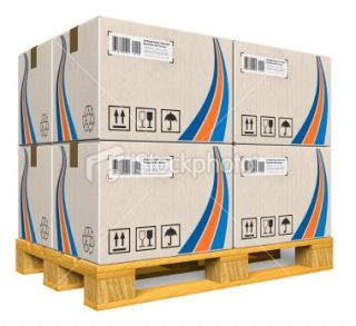 stock photo 18678400 cardboard boxes on pallet