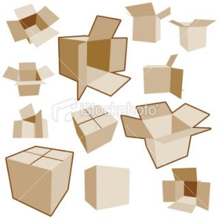 Cardboard Boxes in Perspective  Stock Illustration  iStock